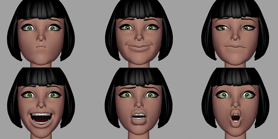 old braverabbit's SHAPES Facial | Create 3d Characters