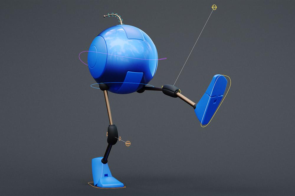Maya: Rig Demo Robo Ball Leg | Create 3d Characters