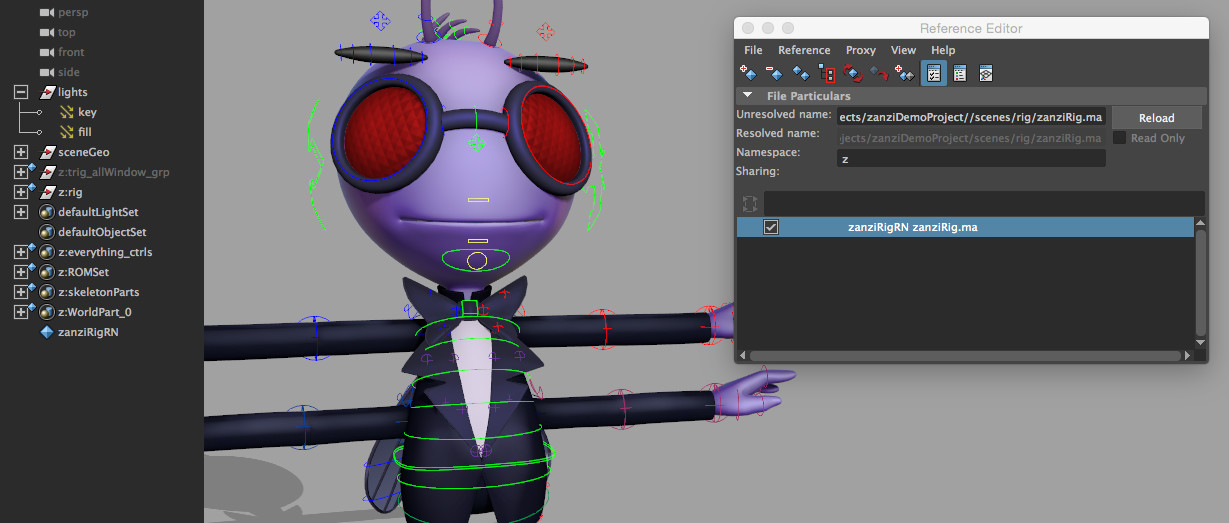 Maya: Animation Referencing Skeleton Builder | Create 3d Characters