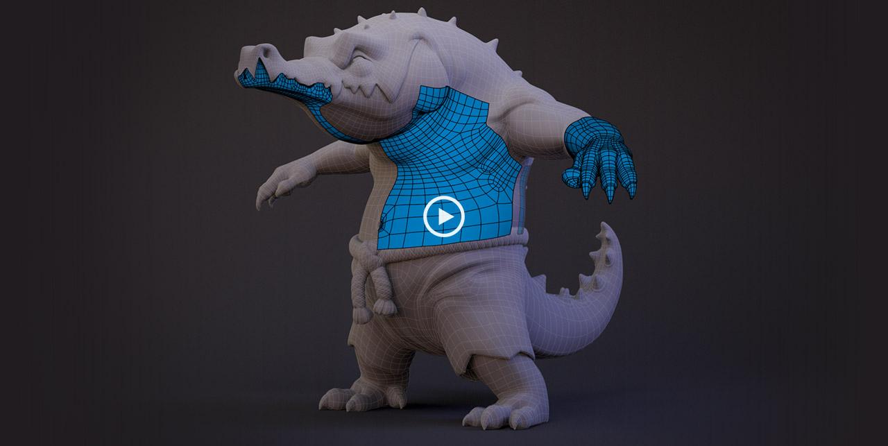 Maya: Croc Retopology | Create 3d Characters