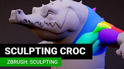 Maya: Croc Retopology   Create 3d Characters